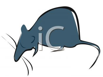 clip art illustration of a mouse in a vector clip art illustration