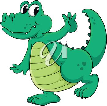picture of a cartoon alligator walking happily in a vector clip art rh clipartguide com Cute Alligator Clip Art Funny Alligator Clip Art