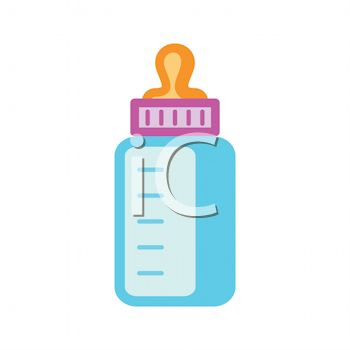 picture of a small baby bottle in a vector clip art illustration