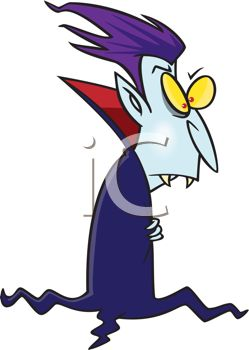A cartoon illustration of a Vampire