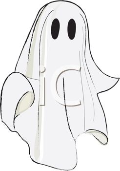 picture of a ghost costume in a vector clip art illustration