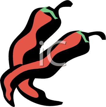 picture of chili peppers on a white background in a vector clip art illustration