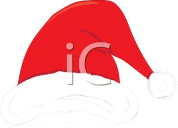 picture of a santa hat in a vector clip art illustration