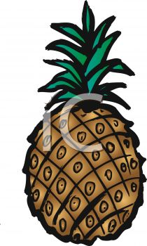 picture of a pineapple in a vector clip art illustration
