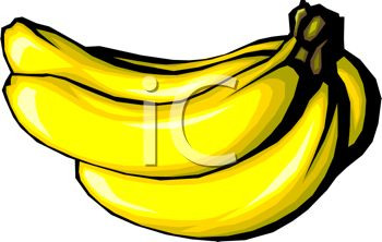 picture of a bunch of bananas in a vector clip art illustration