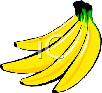 picture of a bunch of bright yellow bananas on a white background in a vector clip art illustration