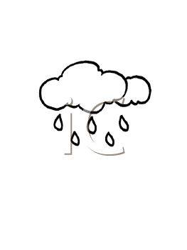 picture of rain clouds in a vector clip art illustration