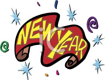 picture of a new years eve banner in a vector clip art illustration