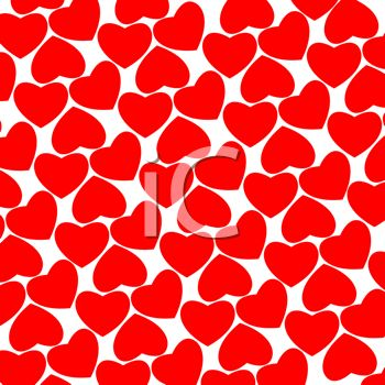 picture of a background of hearts in a vector clip art illustration