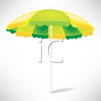 picture of an open umbrella in a vector clip art illustration
