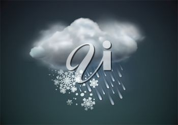 picture of a snow storm in a vector clip art illustration