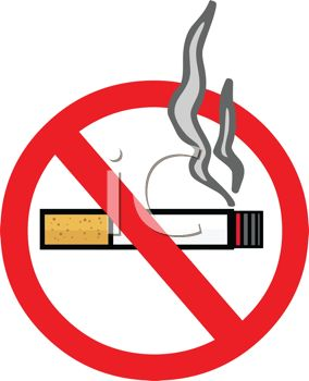 picture of a no smoking sign in a vector clip art illustration