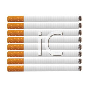 picture of a row of cigarettes in a vector clip art illustration