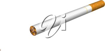 picture of a cigarette in a vector clip art illustration