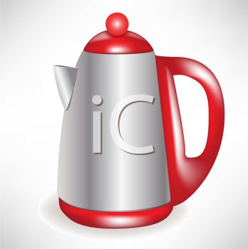 picture of a coffee pot in a vector clip art illustration