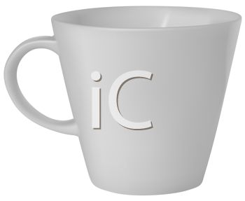 picture of a coffee cup in a vector clip art illustration