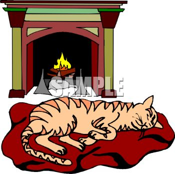 pictur eof a cat laying on a cat bed in front of a burning fireplace rh clipartguide com fireplace clipart black and white fireplace clipart christmas