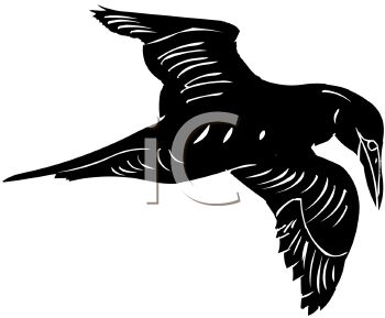 picture of a silhouette of an eagle flying in a vector clip art illustration