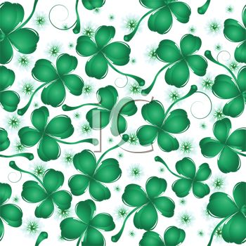 Lucky 4 Leaf Clover Background