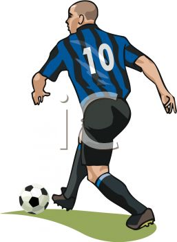 Image of a man playing soccer.