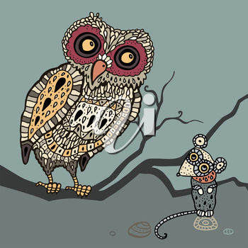 An Owl and a Mouse