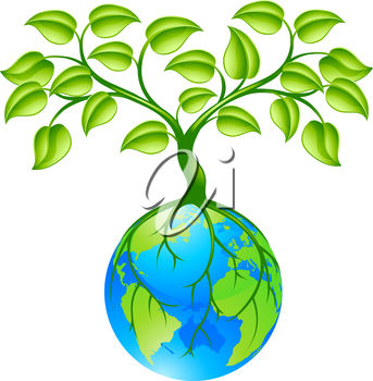clip art illustration of a tree growing our of the earth rh clipartguide com Grow Word Clip Art Play Learn and Grow Together