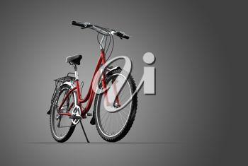 Realistic 3D Image of a Bicycle