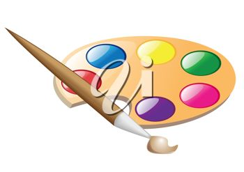 Paintbrush and Painting Palette