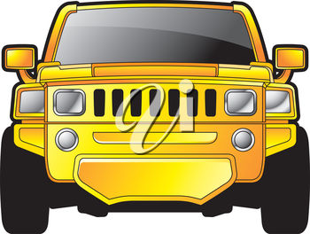 Bright Yellow Hummer Car