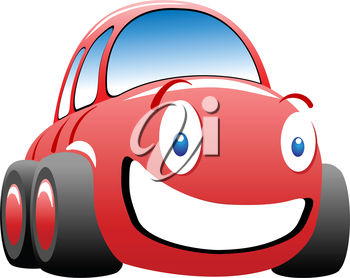 Happy, Smiling Red Car