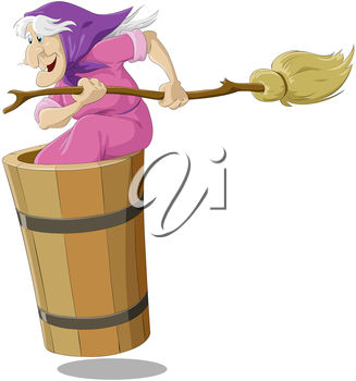 Witch with a Broomstick