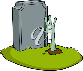 Zombie Hand Sticking Out of a Grave