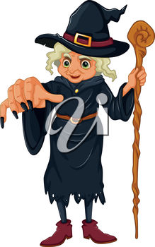 Wicked Witch Holding a Staff