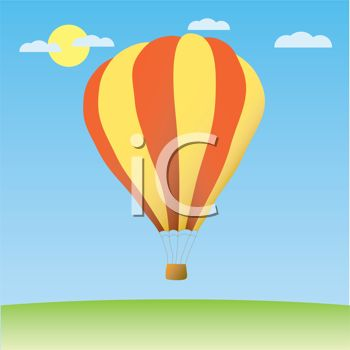 Hot Air Balloon in the Sky