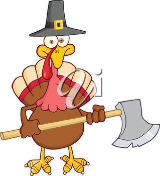 Turkey Carrying an Axe