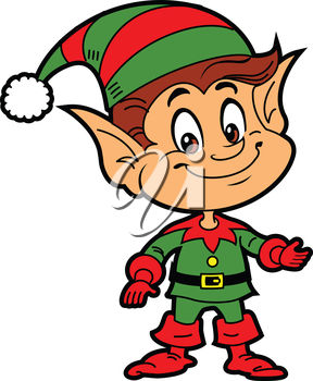 Smiling Christmas Elf