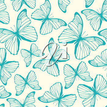 Clipart background of butterflies