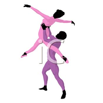 An Illustration of Two People Dancing