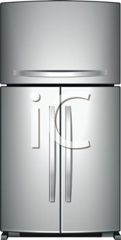 An illustration of a refrigerator