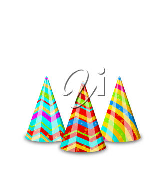 Striped party hats