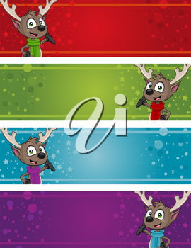 Reindeer christmas tags