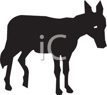 A donkey silhouette