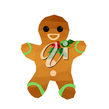A smiling gingerbread man