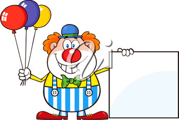A clown with balloons