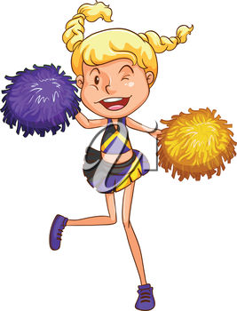 A blonde cheerleader