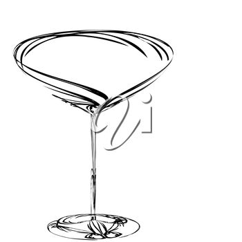 A martini glass