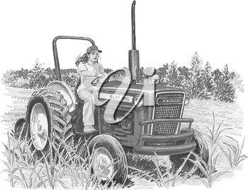 A farmer and tractor