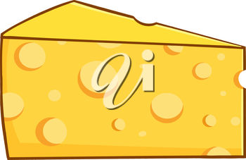 A wedge of cheese