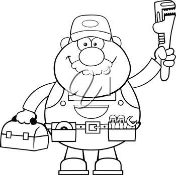 A plumber with tools