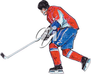 A hockey player